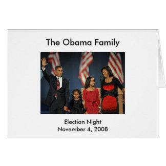 Obama Family Election Night Card