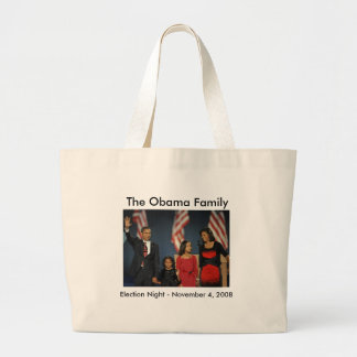 Obama Family Election Night Large Tote Bag