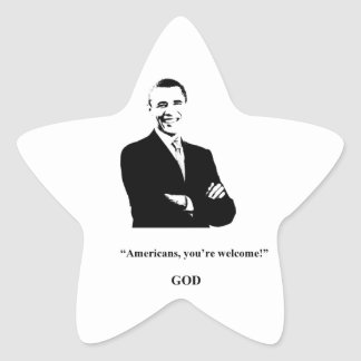 Obama Fans' Prayers Are Answered! Star Sticker