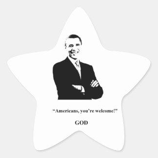 Obama Fans' Prayers Are Answered! Star Sticker