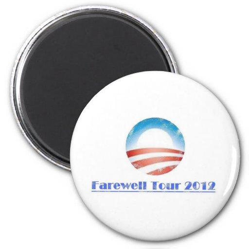 Obama Farewell Tour 2012 2 Inch Round Magnet