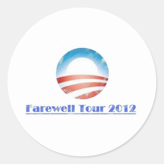 Obama Farewell Tour 2012 Classic Round Sticker