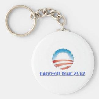 Obama Farewell Tour 2012 Keychain