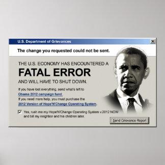Obama - Fatal Error: Protest Poster
