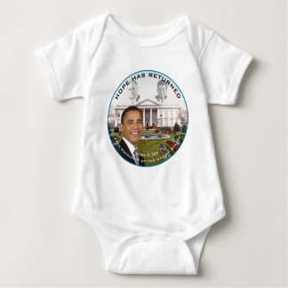 Obama FDR JFK Hope Has Returned Jan 20, 2009 Baby Bodysuit