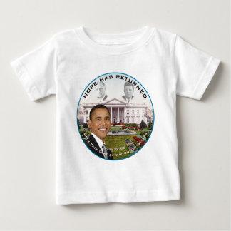 Obama FDR JFK Hope Has Returned Jan 20, 2009 Baby T-Shirt
