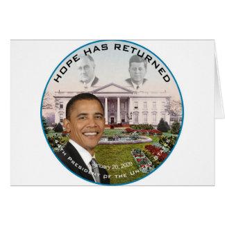 Obama FDR JFK Hope Has Returned Jan 20, 2009 Card