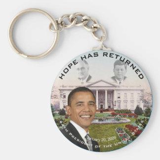 Obama FDR JFK Hope Has Returned Jan 20, 2009 Basic Round Button Keychain