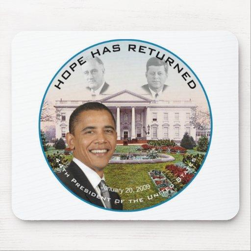 Obama FDR JFK Hope Has Returned Jan 20, 2009 Mouse Pads