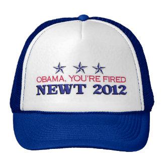 Obama Fired Newt 2012 Trucker Hat