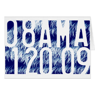 Obama Fireworks Inauguration Greeting Card