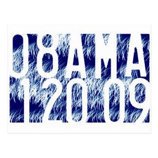 Obama Fireworks Inauguration Postcard