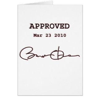 Obama firma a Bill, atención sanitaria reforma 23  Tarjeta De Felicitación