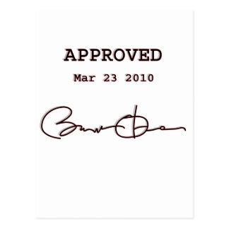 Obama firma a Bill, atención sanitaria reforma 23 Tarjetas Postales