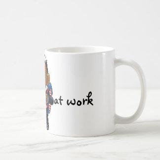 Obama  first day at work classic white coffee mug