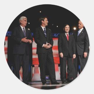 Obama-First Debate Classic Round Sticker