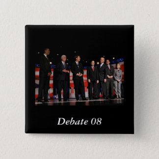 Obama-First Debate Pinback Button