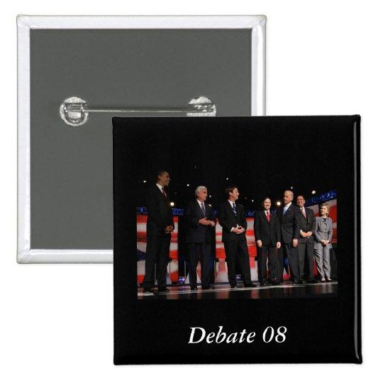 Obama-First Debate Pinback Button