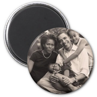 Obama-First Family 2 Inch Round Magnet