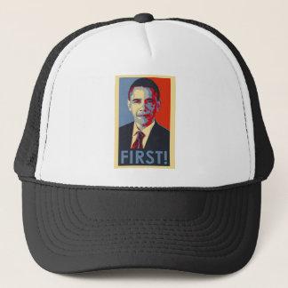 """Obama """"FIRST!"""" Trucker Hat"""