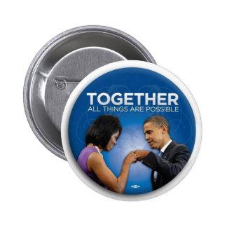 obama fist bump pinback button