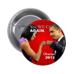 Obama Fist Bump - Yes we can, again 2 Inch Round Button