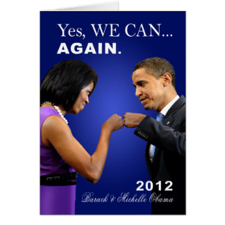 Obama Fist Bump - Yes we can, again Greeting Card