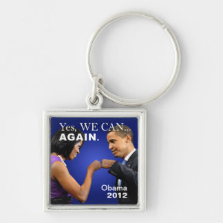 Obama Fist Bump - yes we can again Keychain