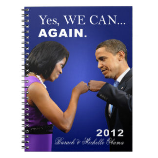 Obama Fist Bump - Yes we can, again Spiral Note Book