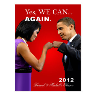 Obama Fist Bump - yes we can, again Postcard
