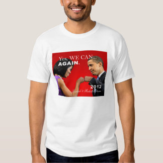 Obama Fist Bump - yes we can again Tee Shirt