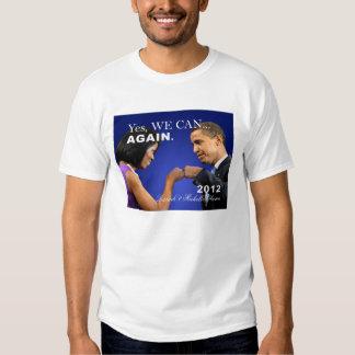 Obama Fist Bump - yes we can again Tshirts