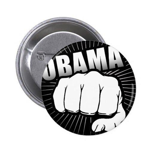 Obama fist pump pinback buttons