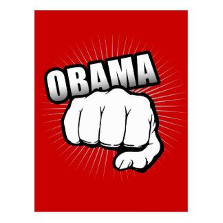 Obama fist pump postcard