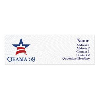 Obama - flaco tarjeta de visita
