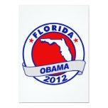 """Obama - Florida 5"""" X 7"""" Invitation Card"""