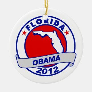 Obama - Florida Christmas Tree Ornament