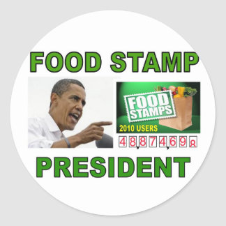 OBAMA FOOD STAMPS jpg Stickers