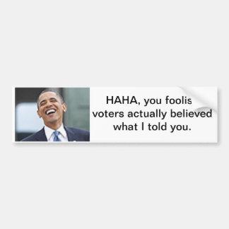 obama-foolish voters car bumper sticker