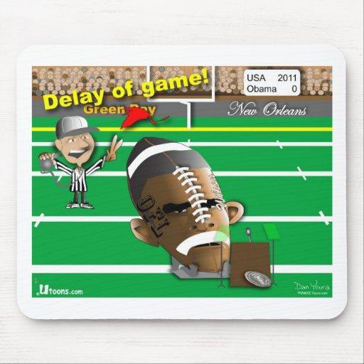 Obama Football Mouse Pad
