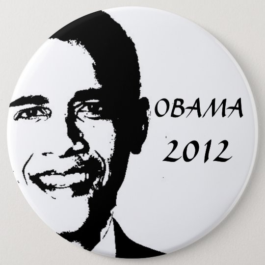 Obama for 2012 button