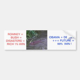 Obama for 99% vs Romney for 1% of Ameri Bumper Sticker