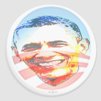 Obama for America Round Stickers