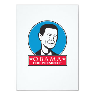 Obama For American President 4.5x6.25 Paper Invitation Card