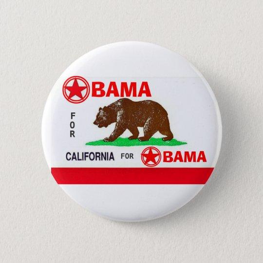 OBAMA FOR CALIFORNIA Button