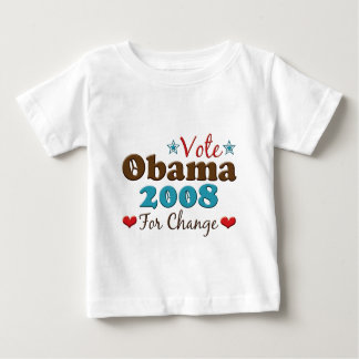 Obama For Change 2008 Obama Baby T shirt