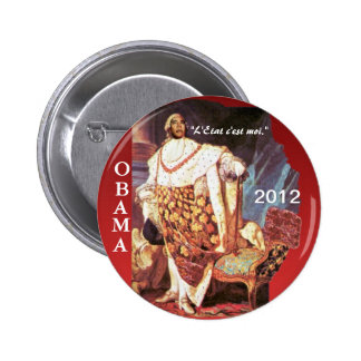 Obama for King 2012 Button