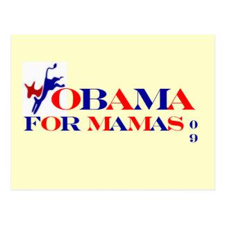 OBAMA FOR MAMAS 09 POSTCARD