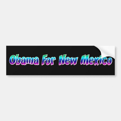 Obama For New Mexico Car Bumper Sticker