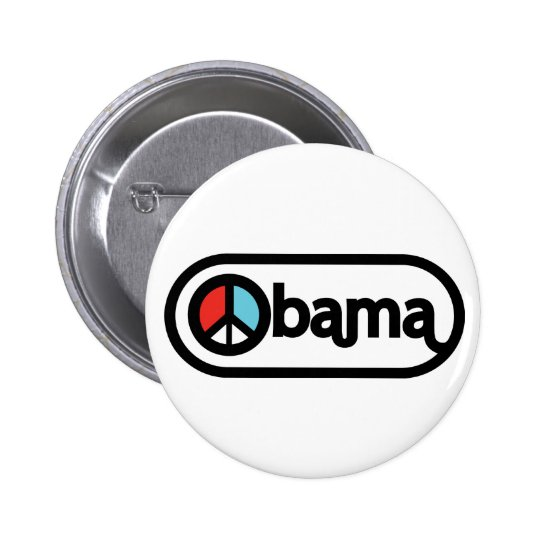 Obama for peace pinback button